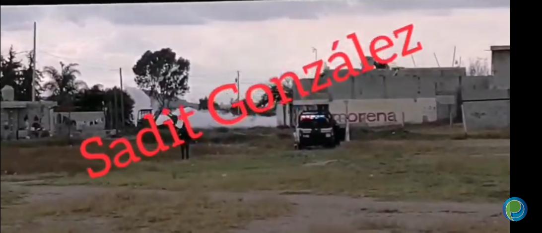 Video desde Puebla: Así se ve la fuerte fuga de gas LP en San Miguel Amozoc
