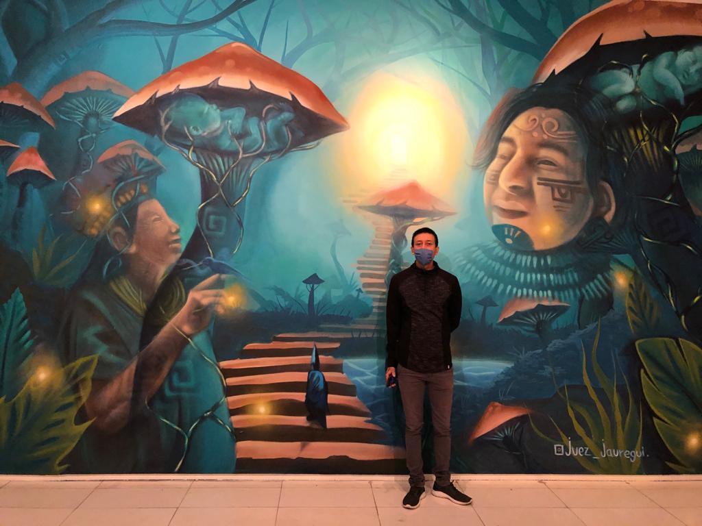 Edgar Jáuregui exhibe su mural en el Museo de Arte Contemporáneo