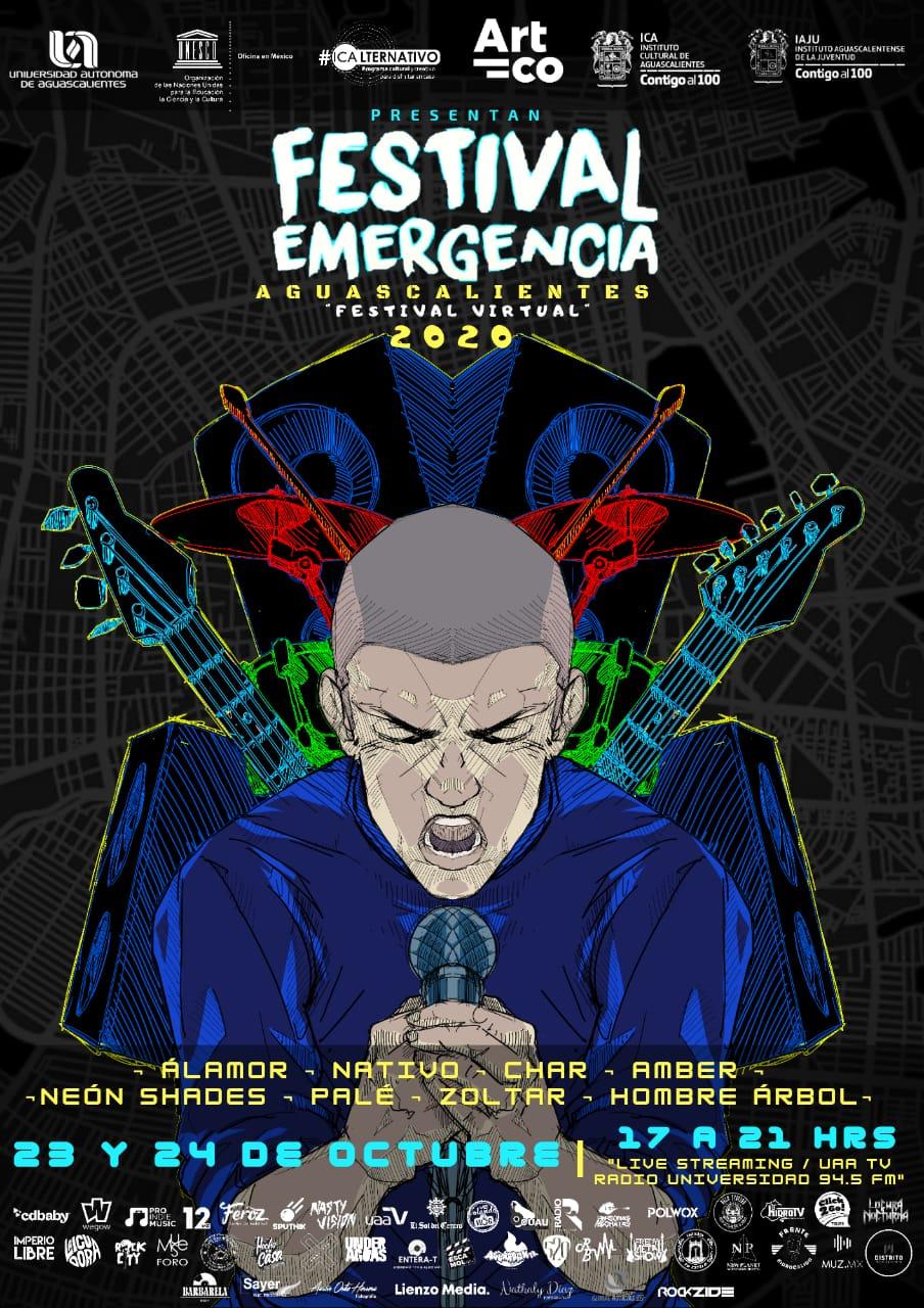 El Festival Emergencia Aguascalientes se realizará este viernes 23 y sábado 24 de octubre