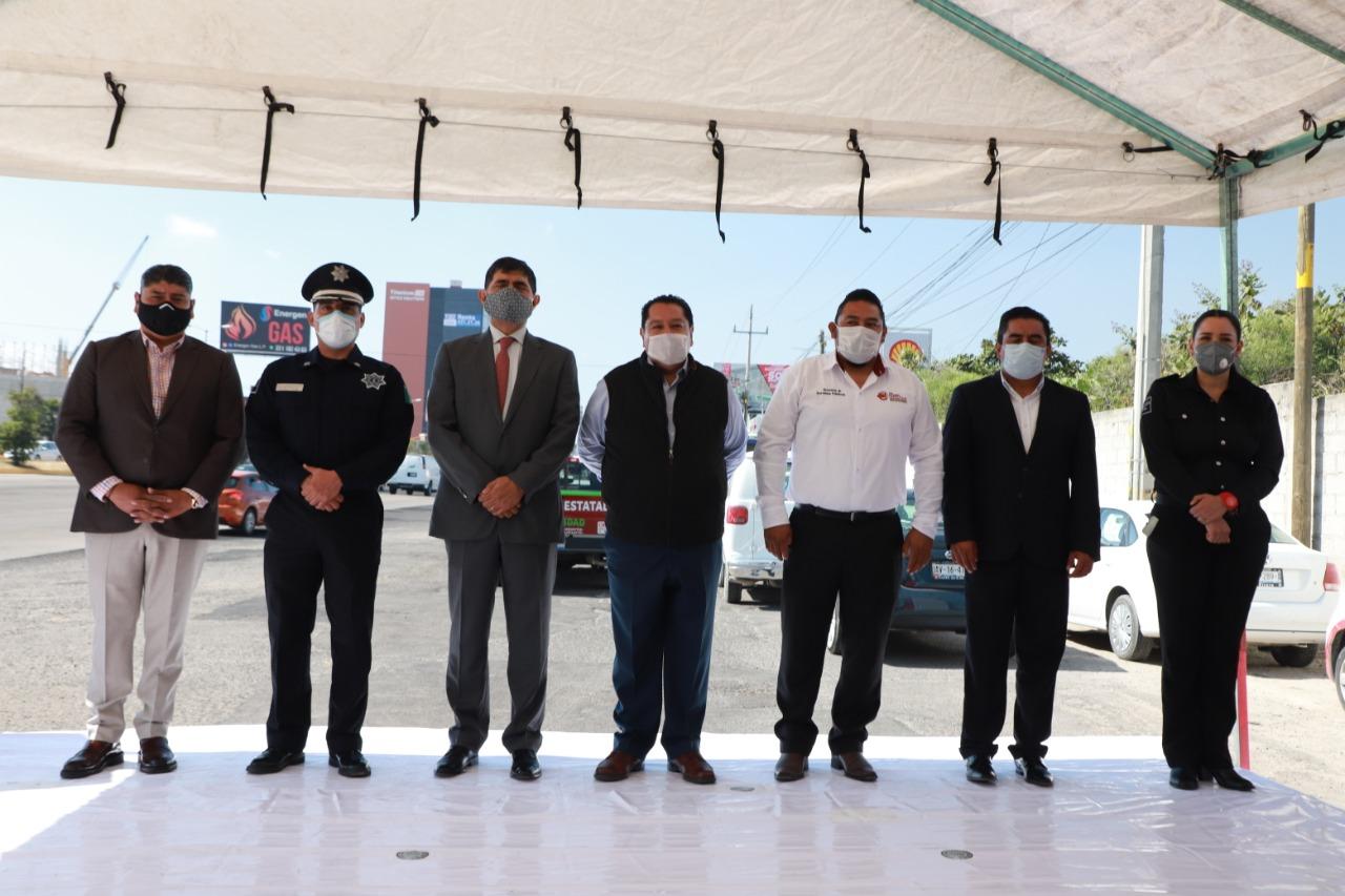 Desde San Andrés Cholula: Estado y municipio coordinan esfuerzos para el mantenimiento de vialidades.