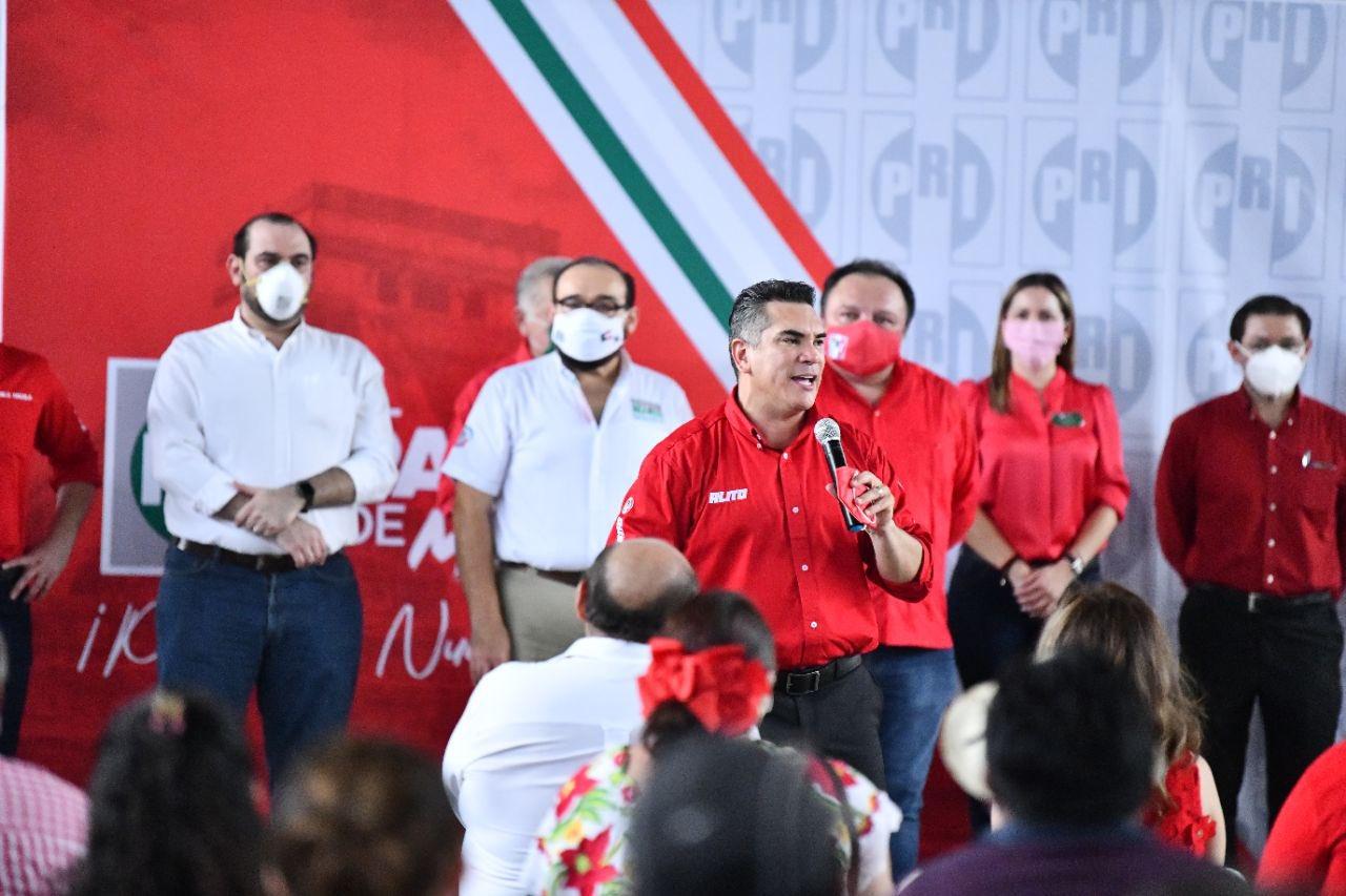 Alejandro Moreno convoca a militancia priista en Yucatán a seguir trabajando con unidad e inclusión