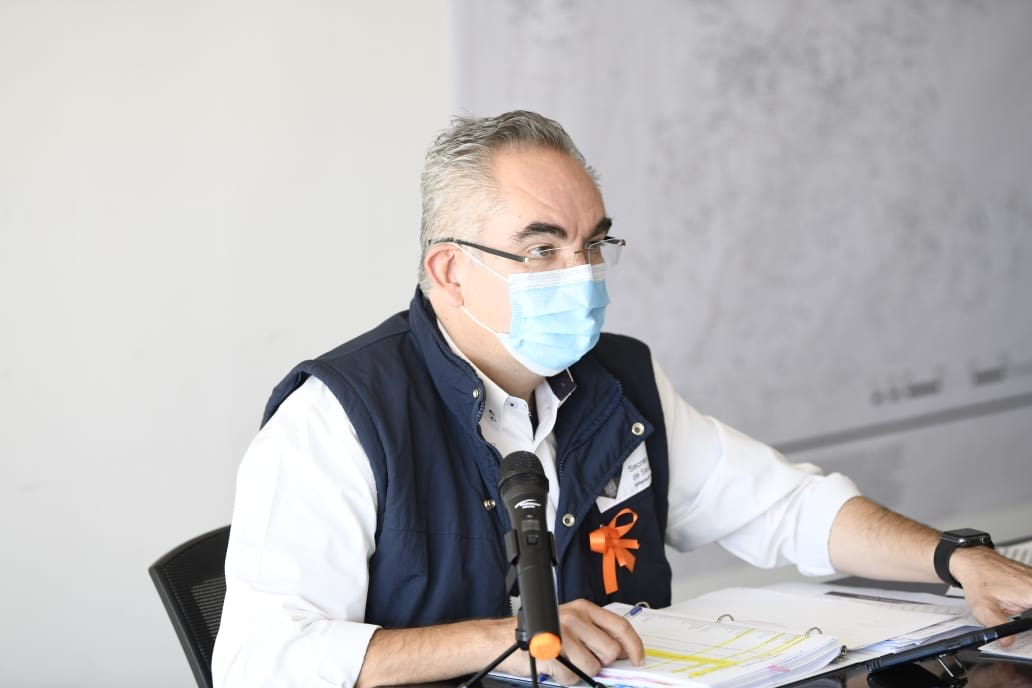 Video desde Puebla: Son 402 pacientes hospitalizados por Covid19 en Puebla, informó José Antonio Martínez García