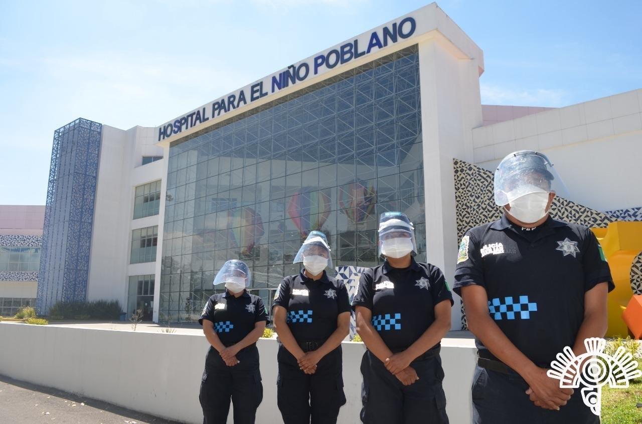 Refuerza Policía Auxiliar vigilancia en Hospitales y Centros de Salud