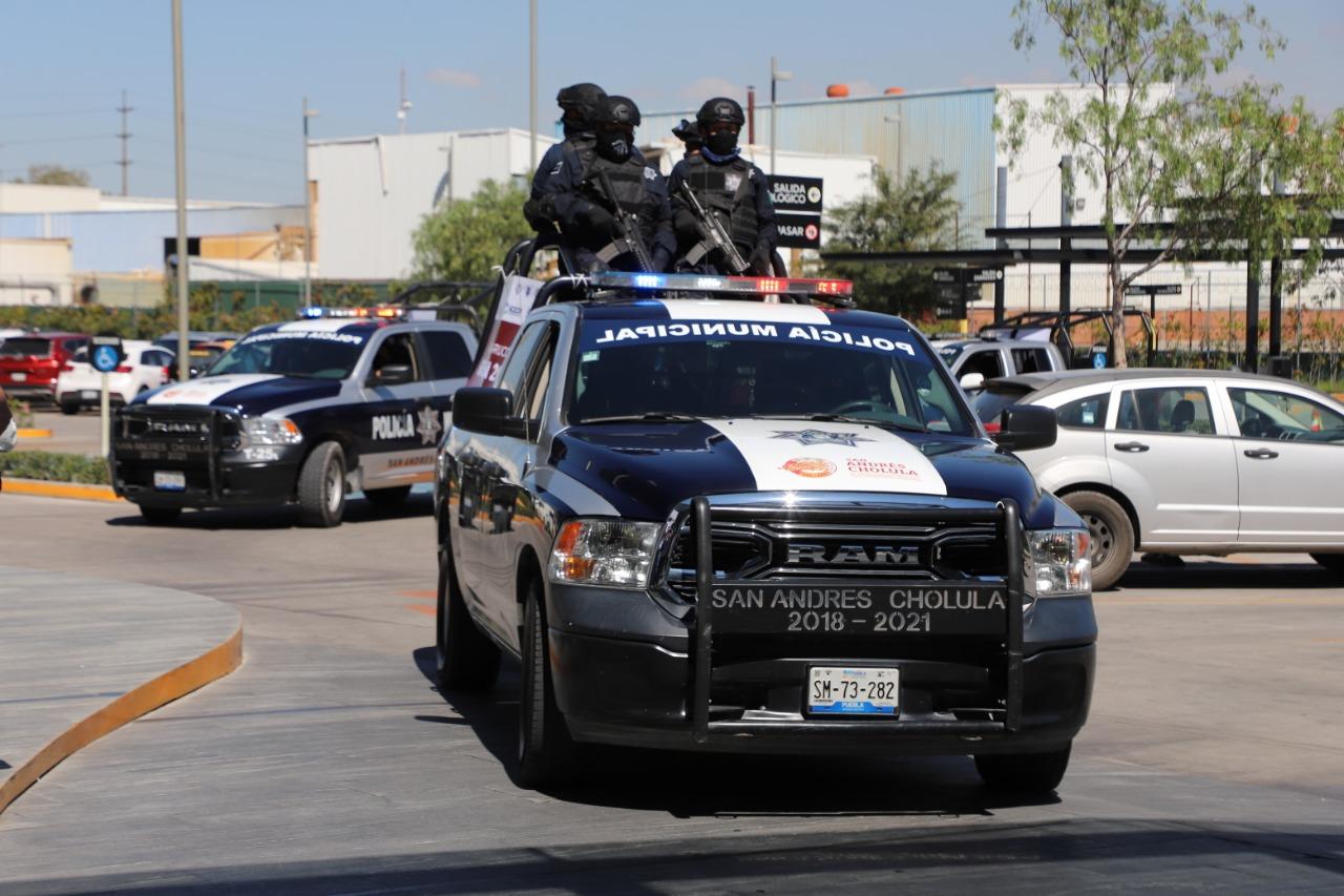 Desde San Andrés Cholula: Trabajo coordinación entre niveles de gobierno es esencial para inhibir la comisión de actos delictivos, subraya la policía municipal