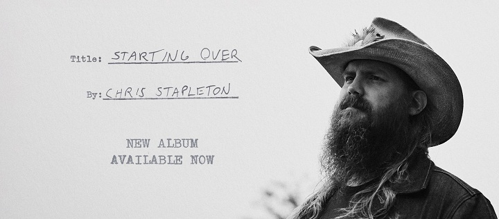 """Starting Over"" es el nuevo álbum de la estrella del Country, Chris Stapleton"
