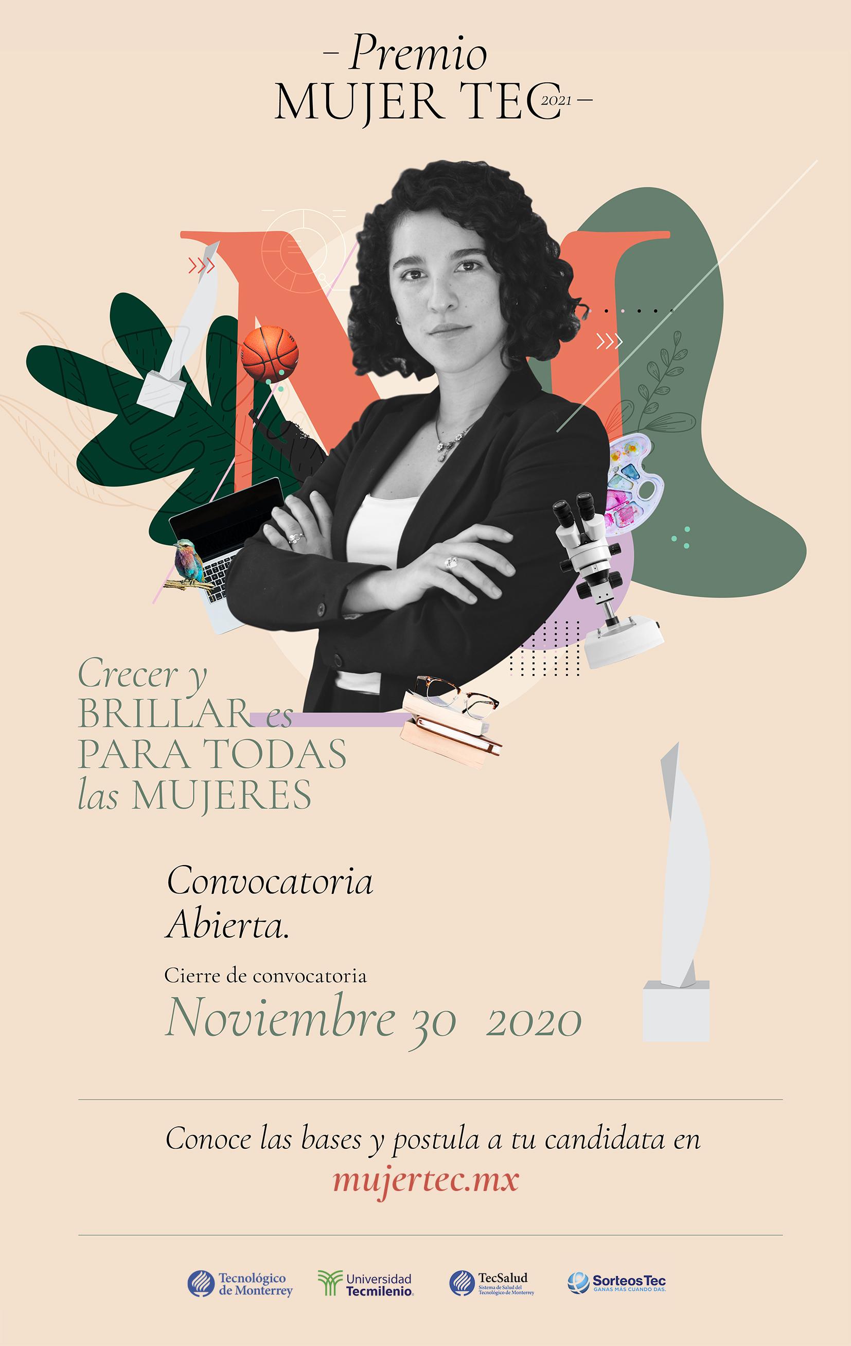 """Convocan al Premio Mujer Tec 2021: """"Crecer y brillar es para todas"""""""