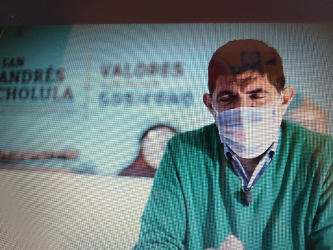 Video desde San Andrés Cholula: Ayuntamiento realizará operativos de seguridad y sanidad durante el Buen Fin, informó Sergio Mirón