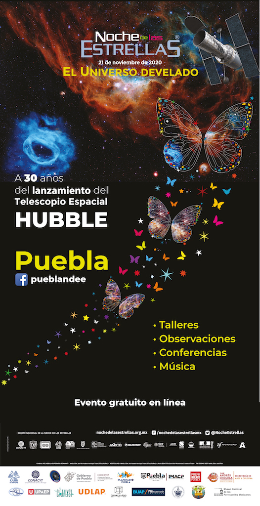 El 21 de noviembre Puebla tendrá su primera edición virtual de la Noche de las Estrellas