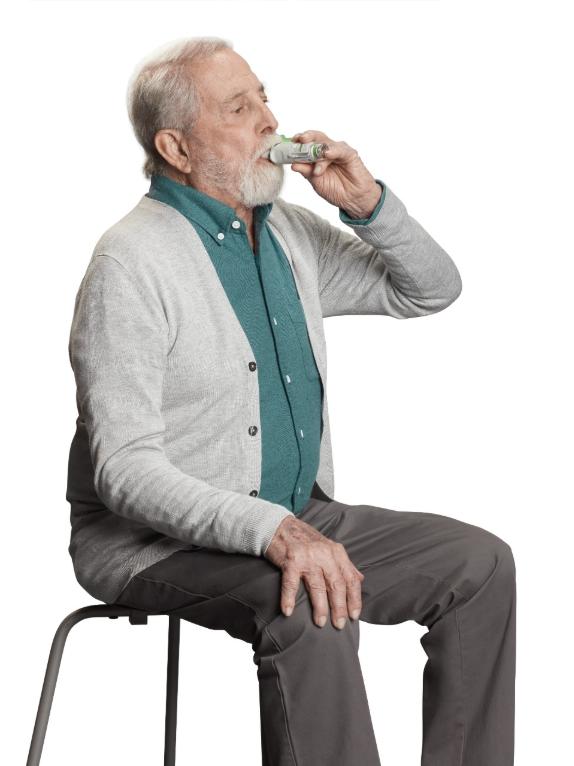 Es posible que pacientes con ASMA y EPOC inhalen sin esfuerzo