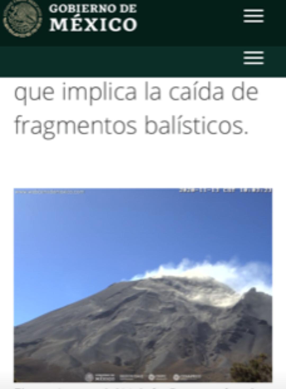 Popocatépetl registró 307 exhalacionesen las últimas horas: Cenapred