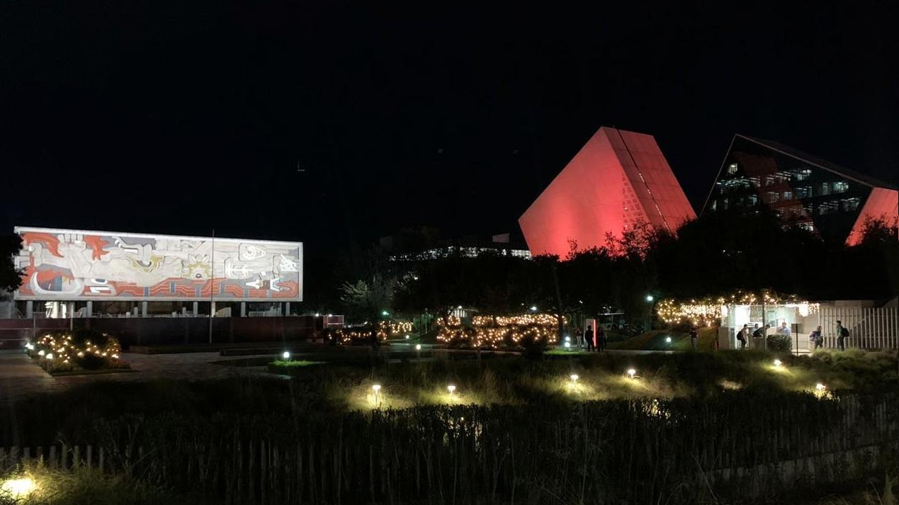 El 25 de noviembre el Tec de Monterrey se iluminó de naranja a favor de una vida libre de violencia para las mujeres