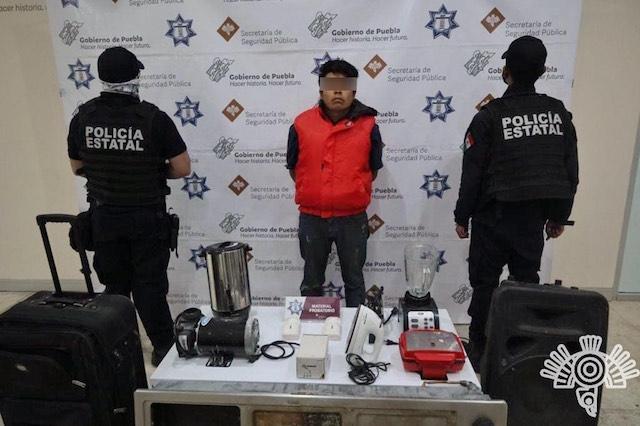 Captura Policía Estatal a presunto asaltante a casa-habitación