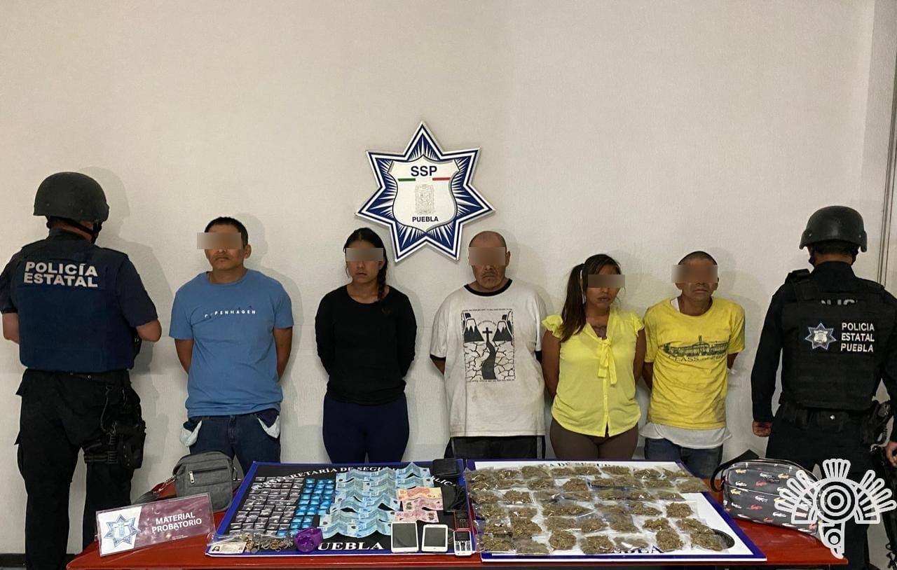 """Captura Policía Estatal a cinco presuntos narcovendedores de """"El Pelón"""""""