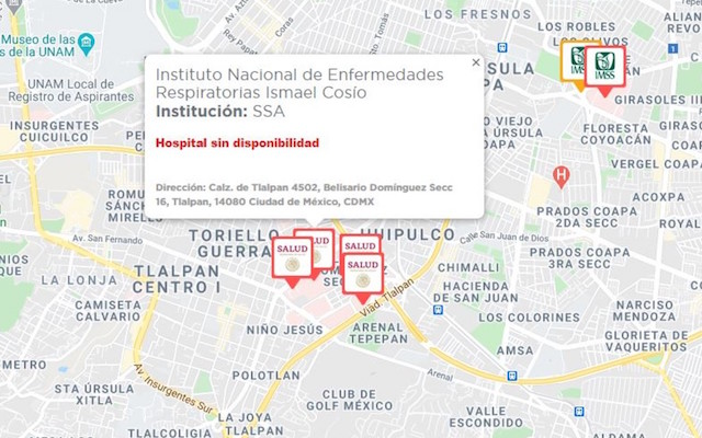 Comienzan a saturarse hospitales Covid-19; el INER, con capacidad rebasada