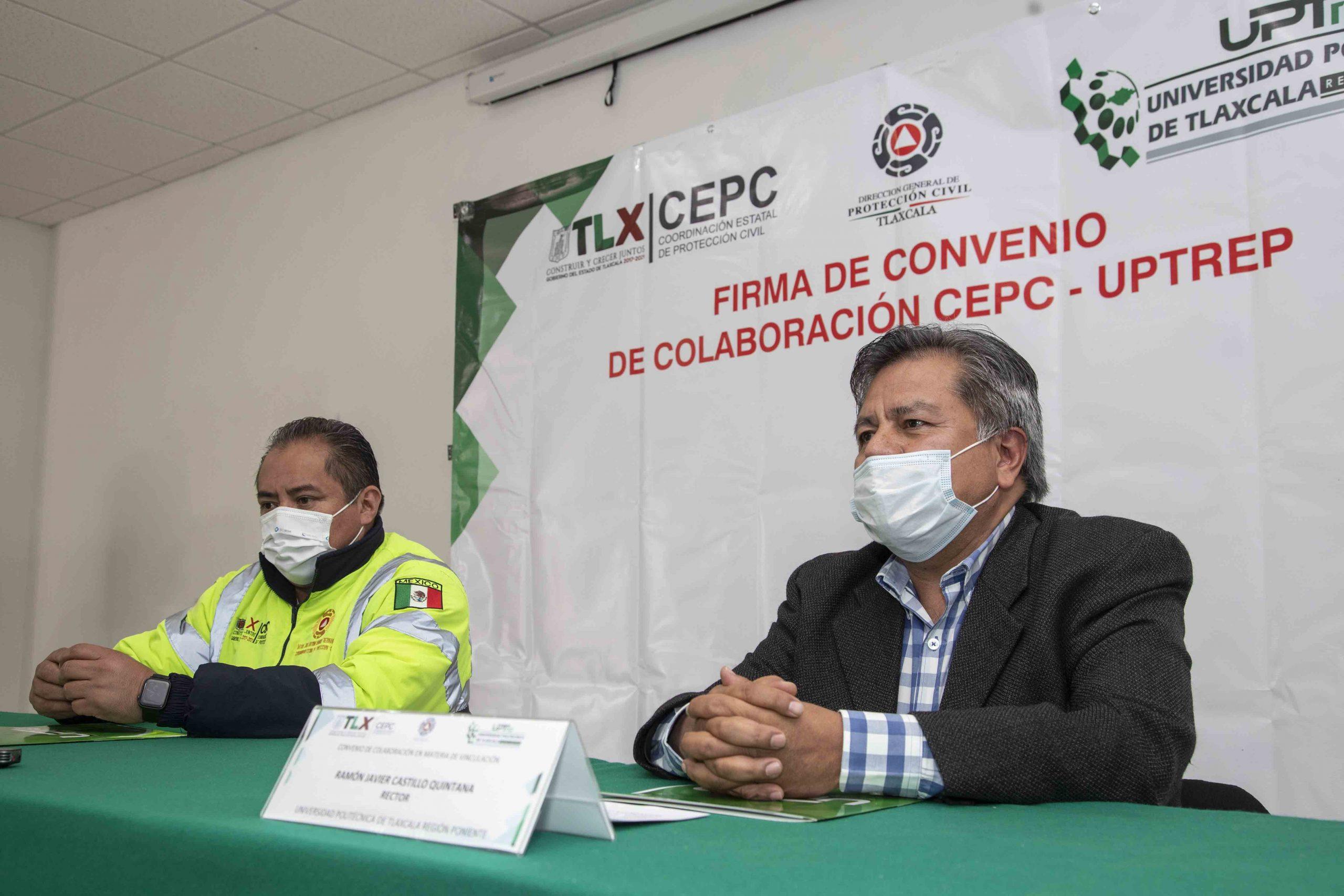 Signan CEPC y UPTREP convenio de colaboración de beneficios de estudiantes.