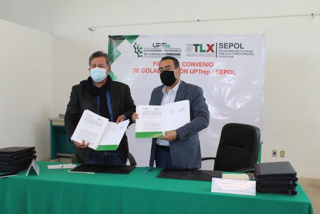 Firman SEPOL y UPTREP convenio de colaboración