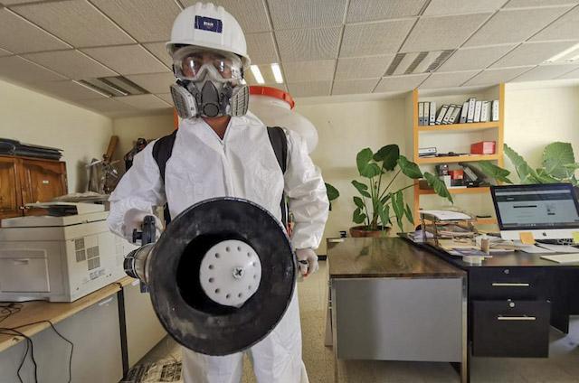 Mantiene SEPE-USET espacios seguros y desinfectados