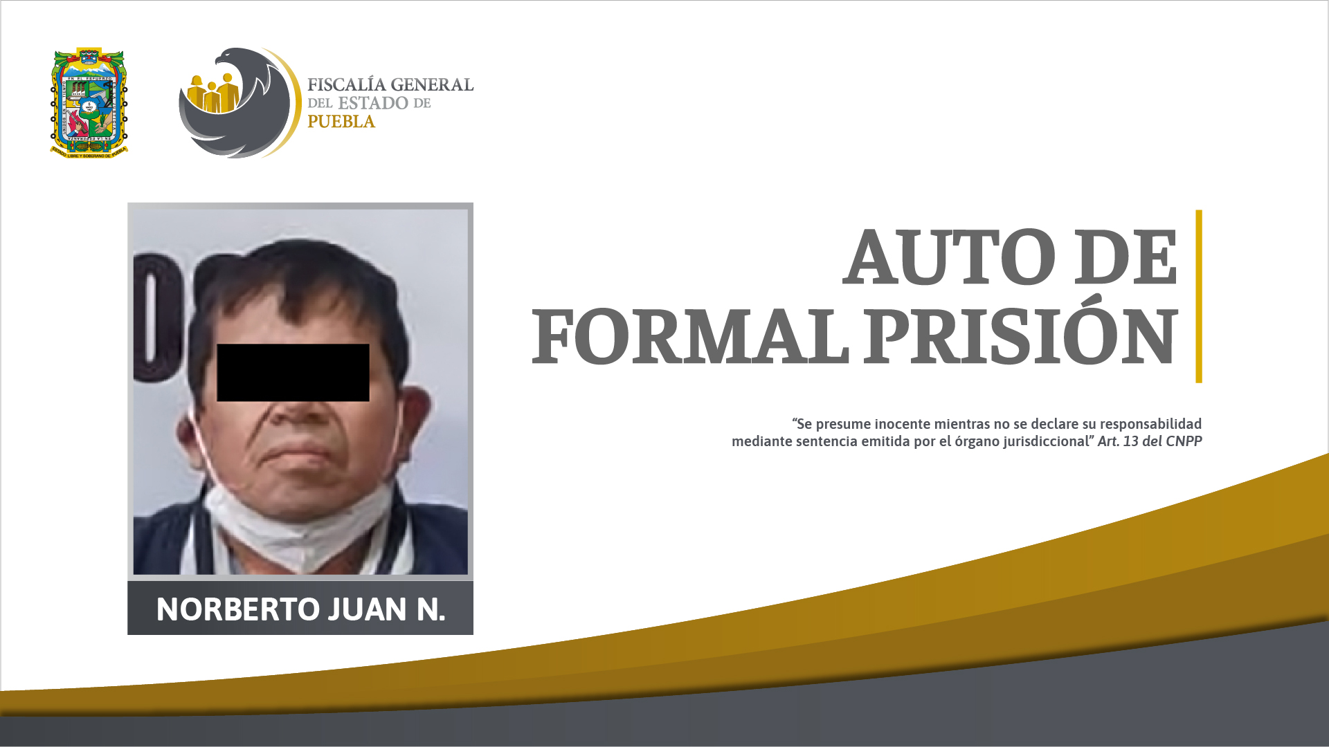 Pedófilo depravado violó a sus 2 hijastras en el municipio de Juan C Bonilla