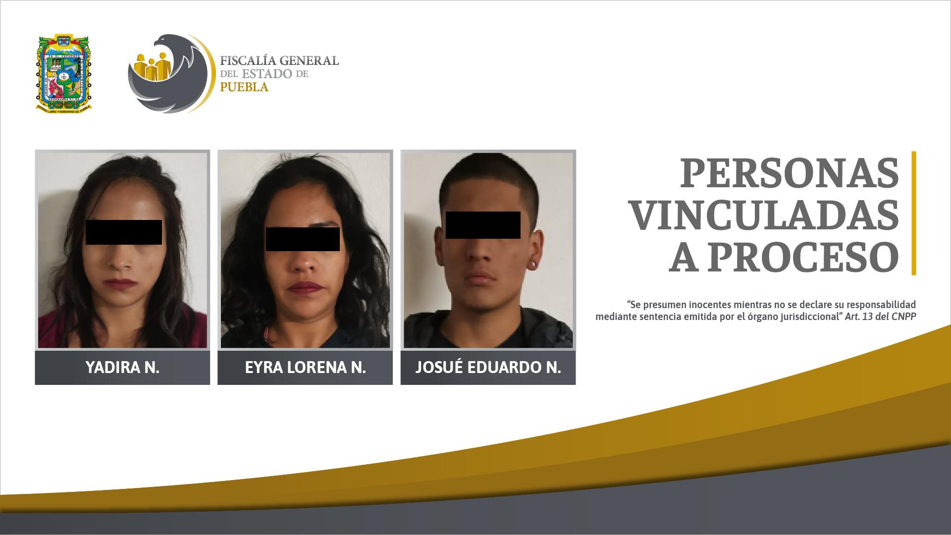 Vinculadas a proceso tres personas aseguradas en posesión de droga