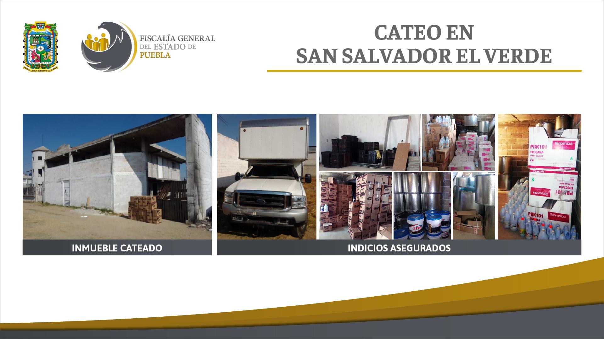 FGE recuperó mercancía presuntamente robada en San Salvador El Verde
