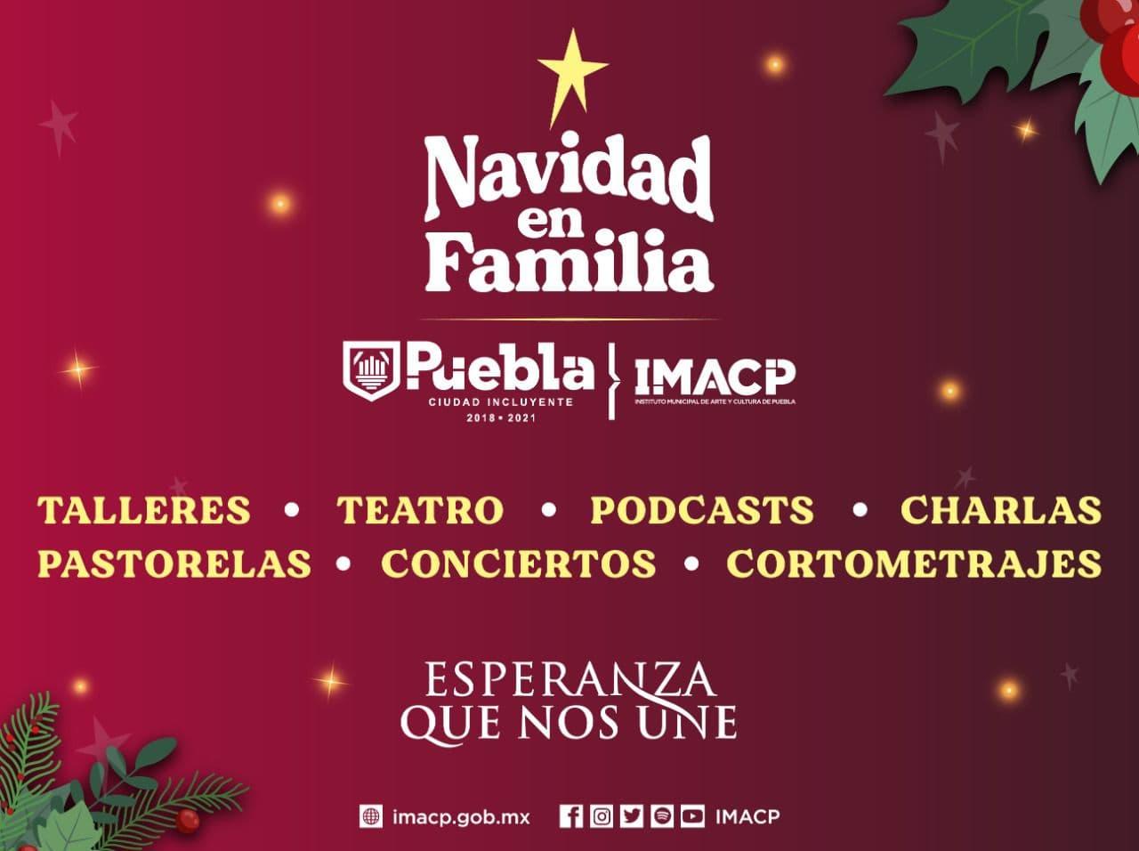 IMACP presenta cartelera de actividades para la temporada navideña