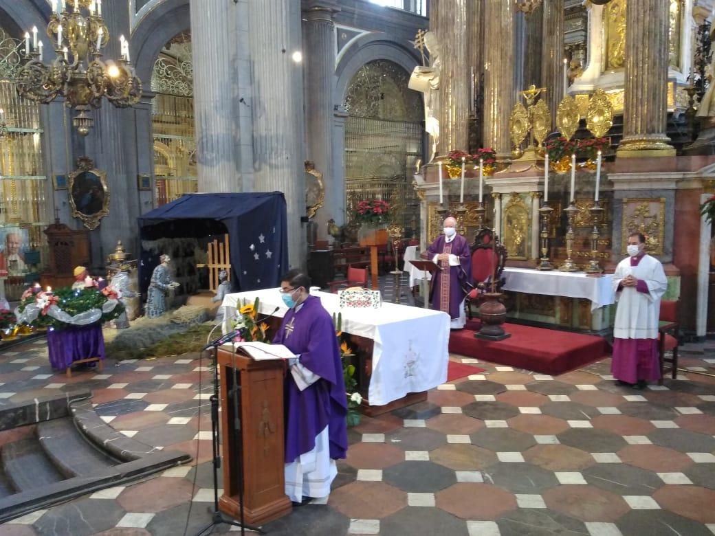 Arzobispo de Puebla anuncia misa presencial este 24 de diciembre con el 30% de capacidad de la catedral