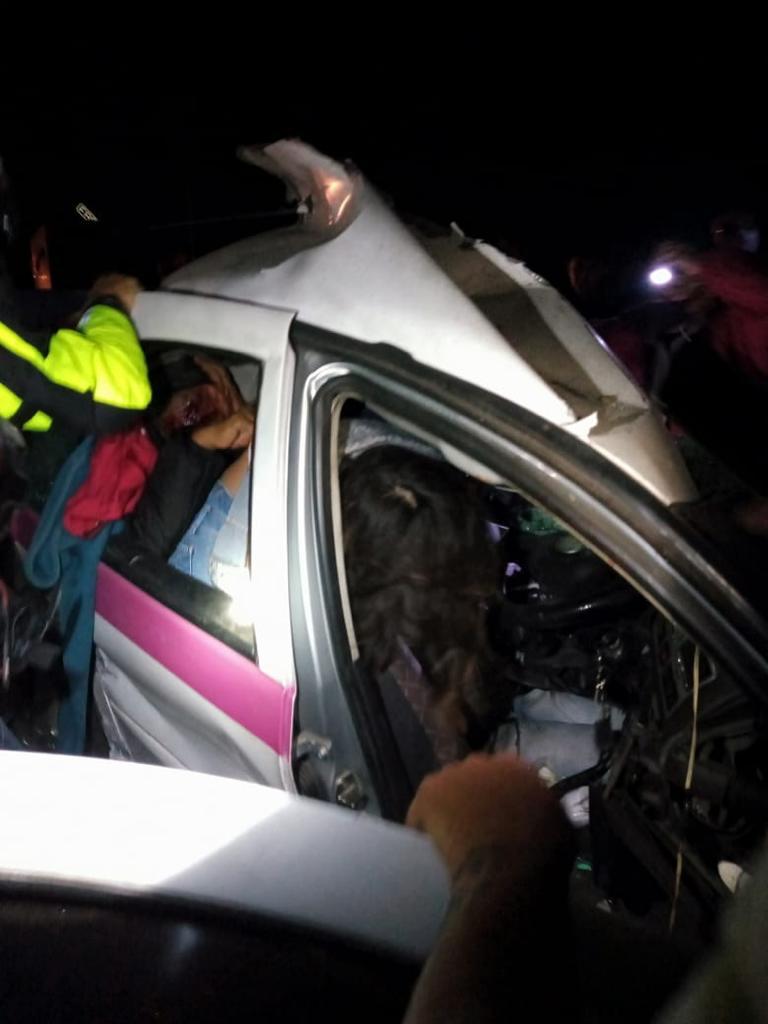Un hombre muerto y otro herido en accidente en la México- Puebla a la altura de Xoxtla