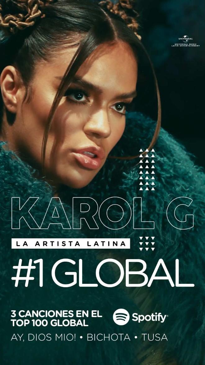 """Karol G es la única artista latina femenina que estará en el YouTube Originals """"Hello 2021"""""""