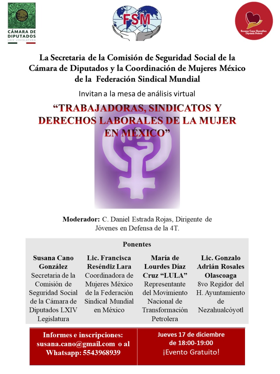 Francisca Reséndiz Lara participará en evento laboral nacional