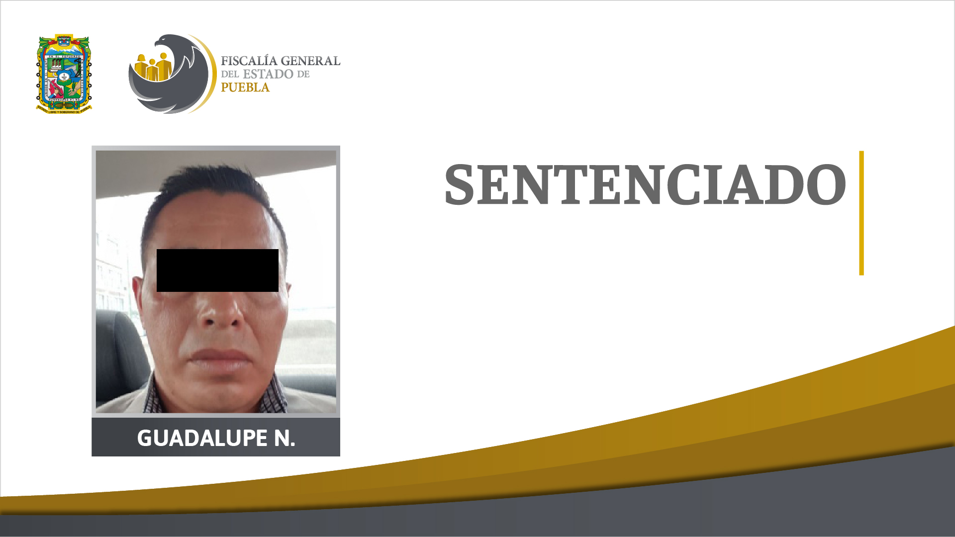 FGE obtuvo 50 años de prisión contra coautor material de secuestro