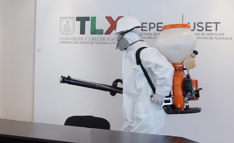 Realiza SEPE-USET acciones de desinfección en oficinas del complejo administrativo