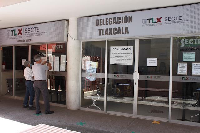 Garantiza Secte desinfección de oficinas para atención de trámites vehiculares