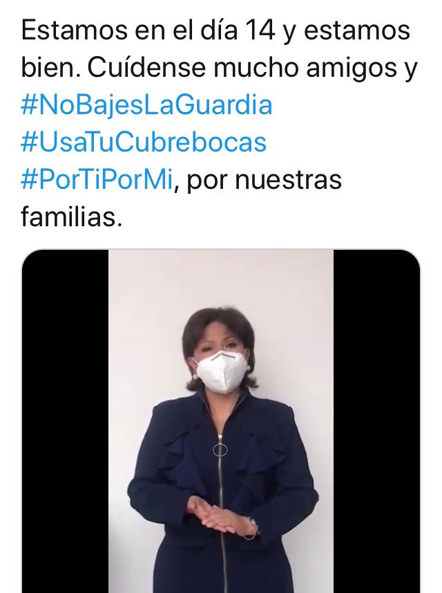 Anabell Ávalos aclara que está bien de salud y pide a la gente cuidarse ante el Covid19