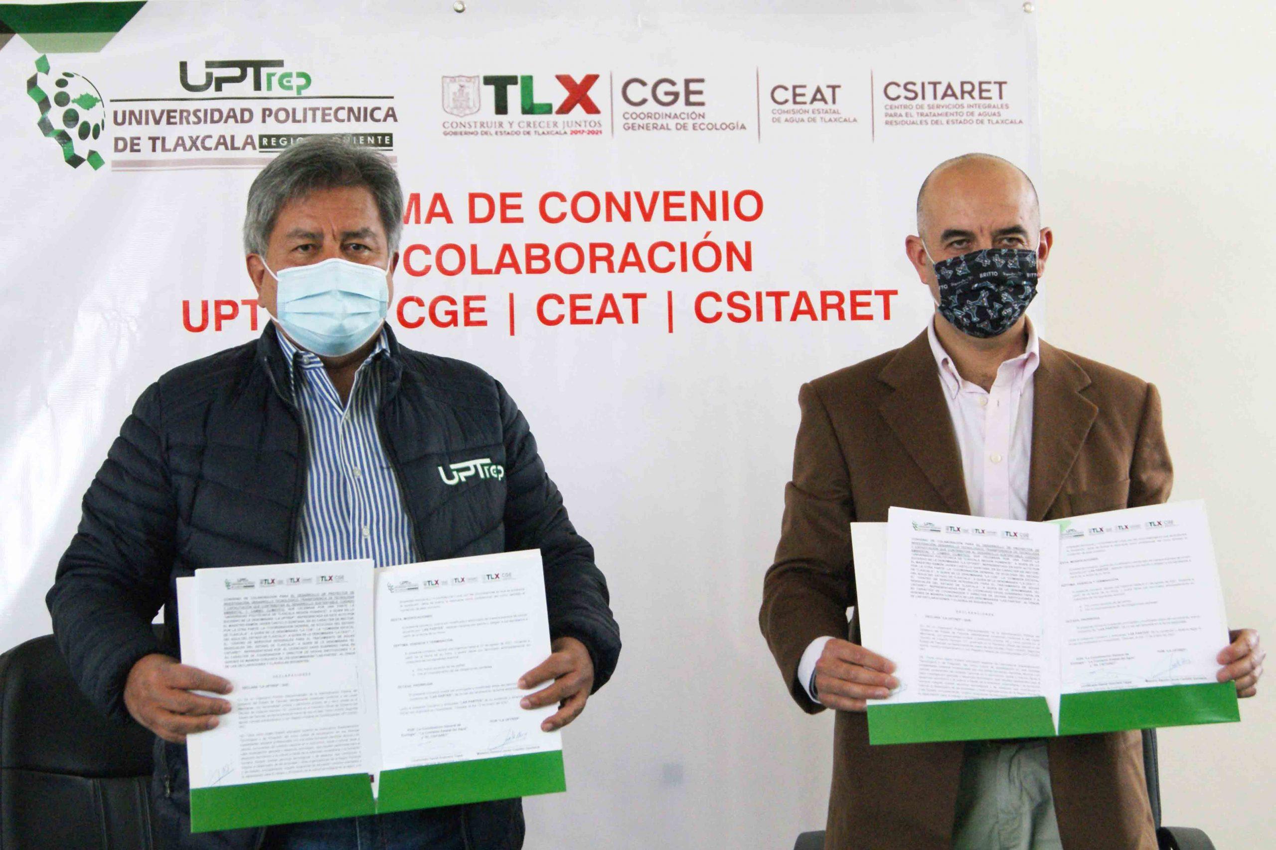 Signan CGE y UPTREP convenio de colaboración para desarrollar proyectos conjuntos.