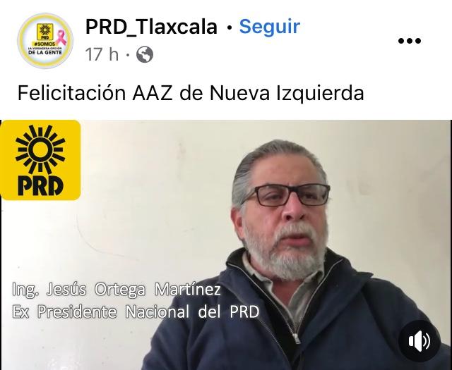Jesús Ortega apoya la postulación de Anabell Ávalos en Tlaxcala