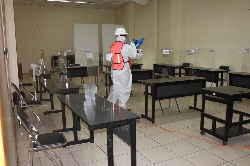 Desde Tlaxcala: Sanitizarán oficinas de SECTE y SPF para proteger salud de los usuarios