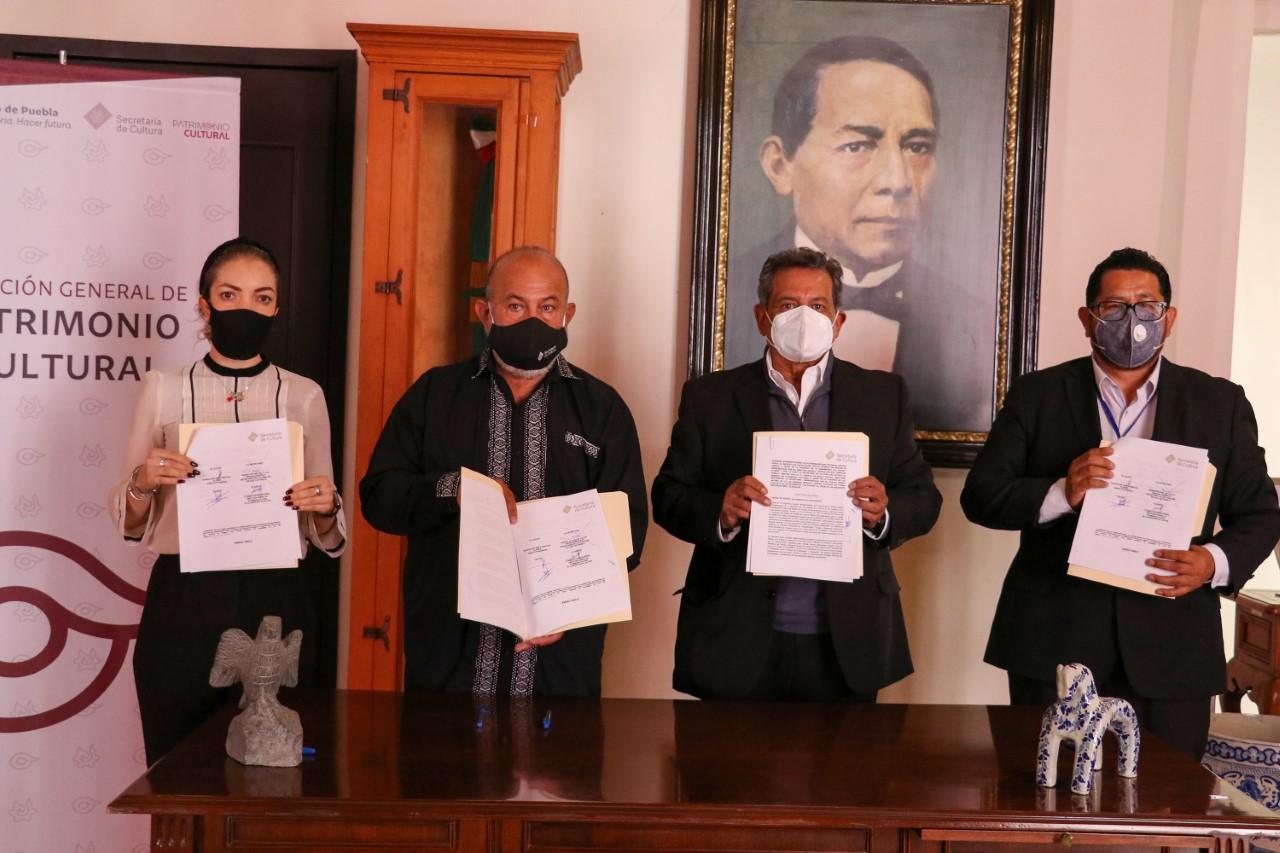 Suman esfuerzos Cultura e ICATEP para preservar el patrimonio cultural de Puebla
