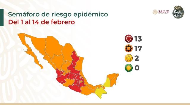 Parte de Guerra nacional: México iniciará febrero con más de 158 mil fallecidos y 2 millones 59 mil casos de Covid19