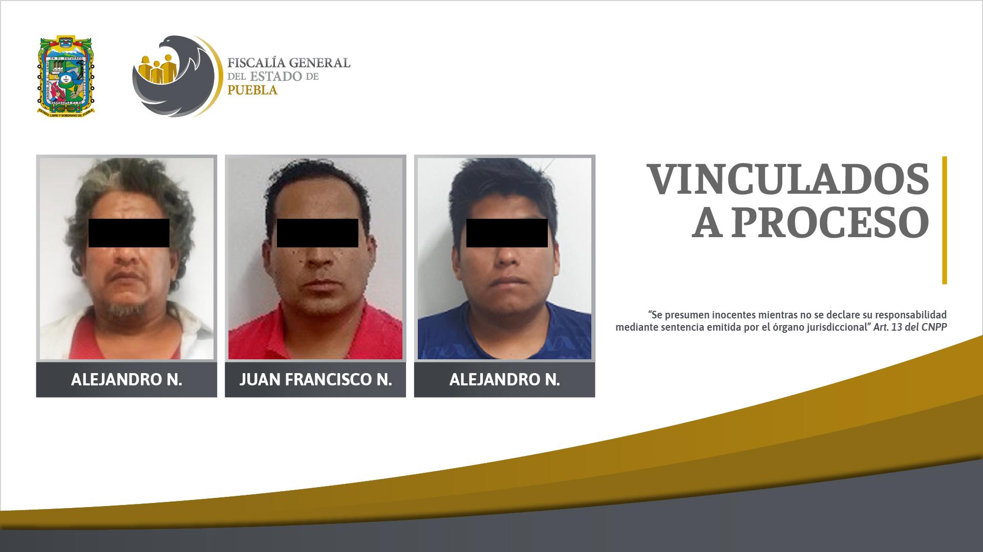 Tres personas vinculadas a proceso por violencia familiar