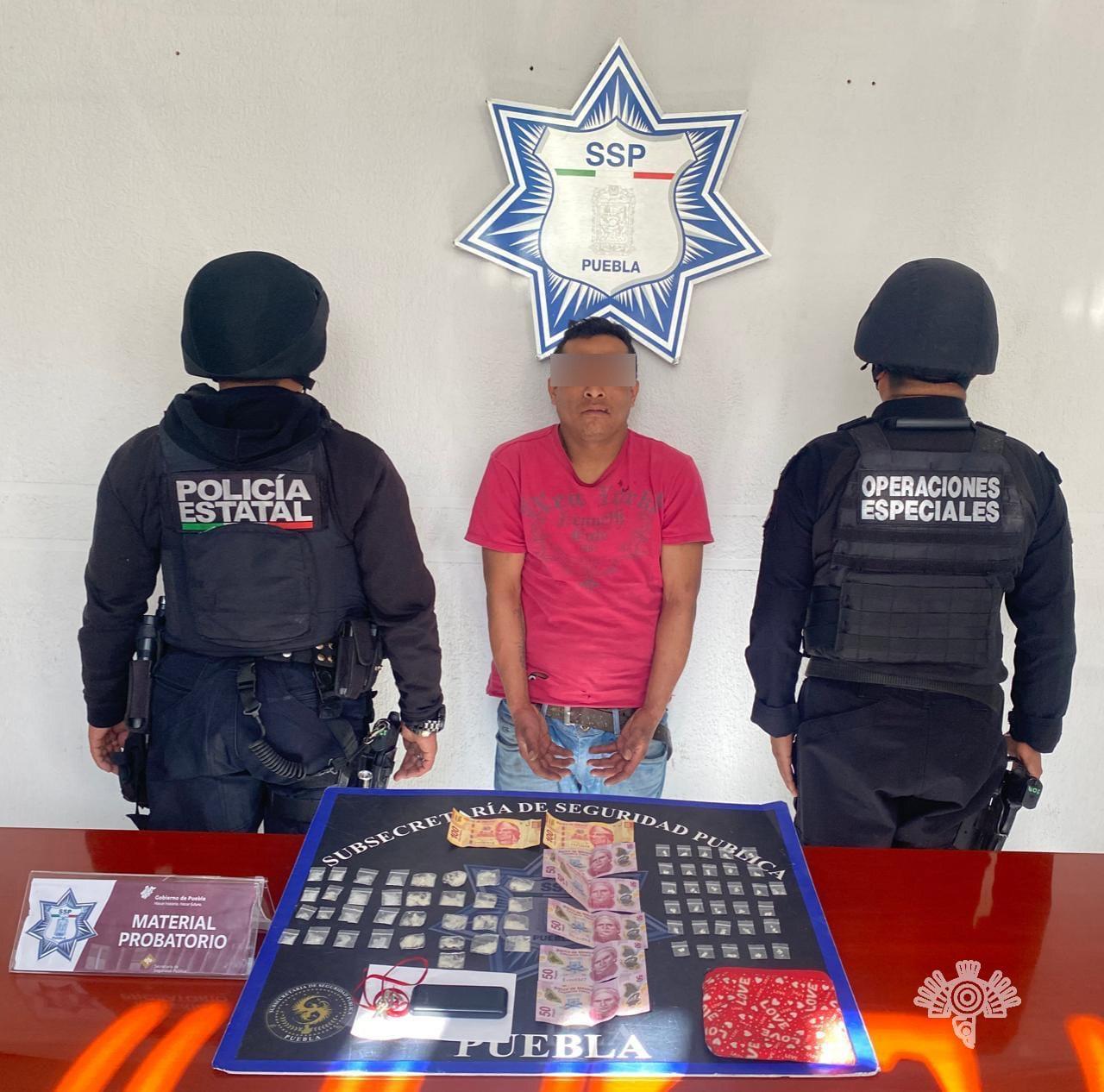 """Captura Policía Estatal a presunto distribuidor de droga de """"El Pelón"""""""