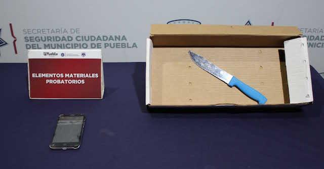 Detuvo policía municipal de Puebla a menor de edad por robo a transeúnte