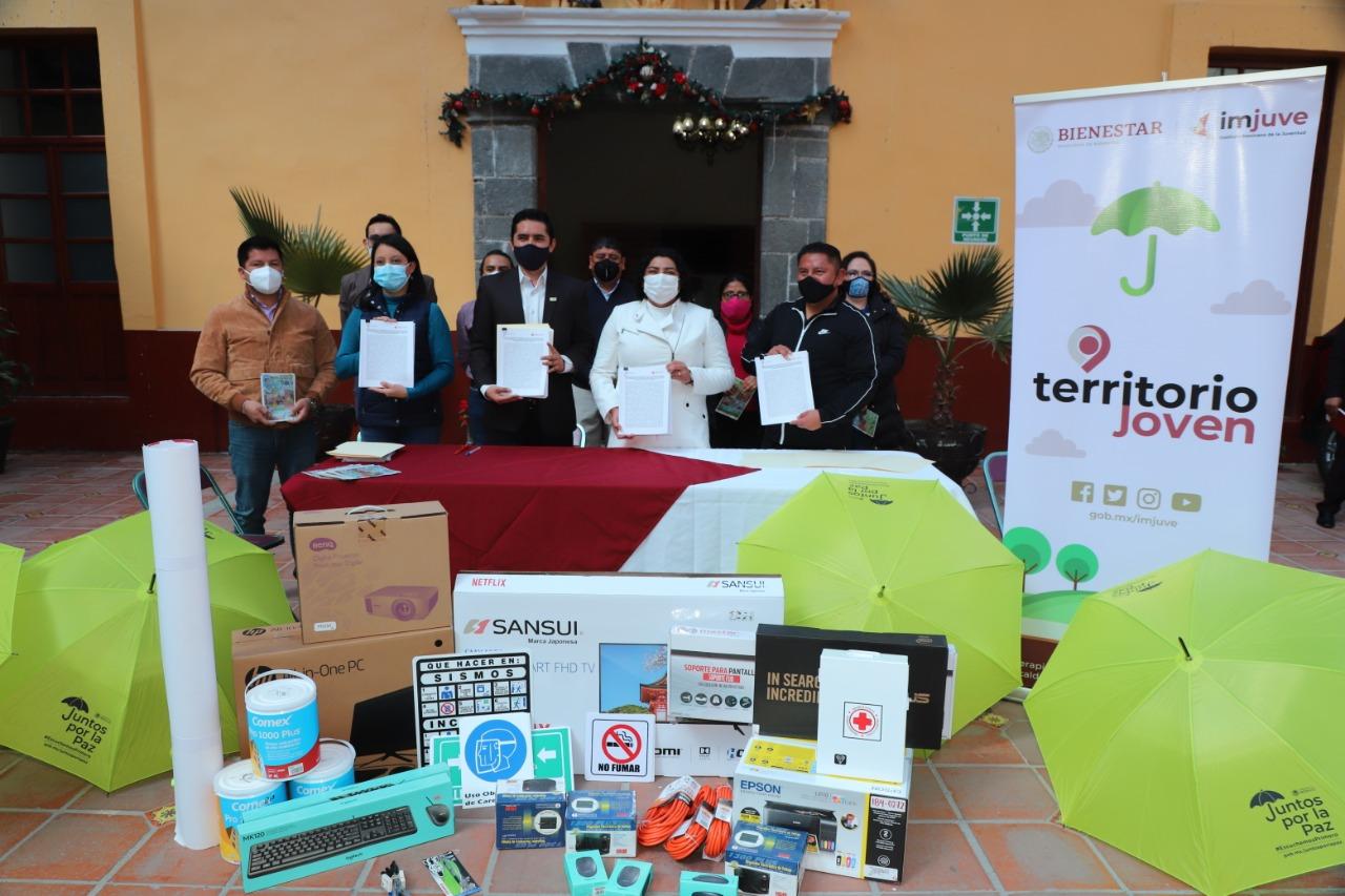 Desde San Andrés Cholula: Estado, federación y ayuntamiento trabajan en conjunto a favor de la Juventud