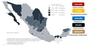 Parte de Guerra nacional sábado 9: México lleva 133 mil 204 fallecidos y un millón 524 mil 36 contagios de Covid19