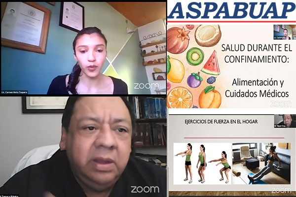 Consumir alimentos balanceados y realizar ejercicio en casa, recomiendan especialistas ante pandemia: ASPABUAP