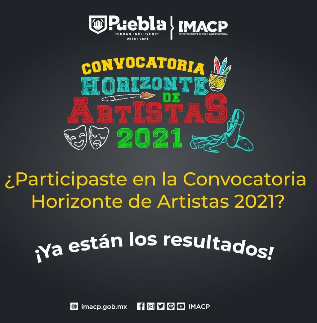 """Anuncia IMACP resultados de la convocatoria """"Horizonte de Artistas 2021"""""""