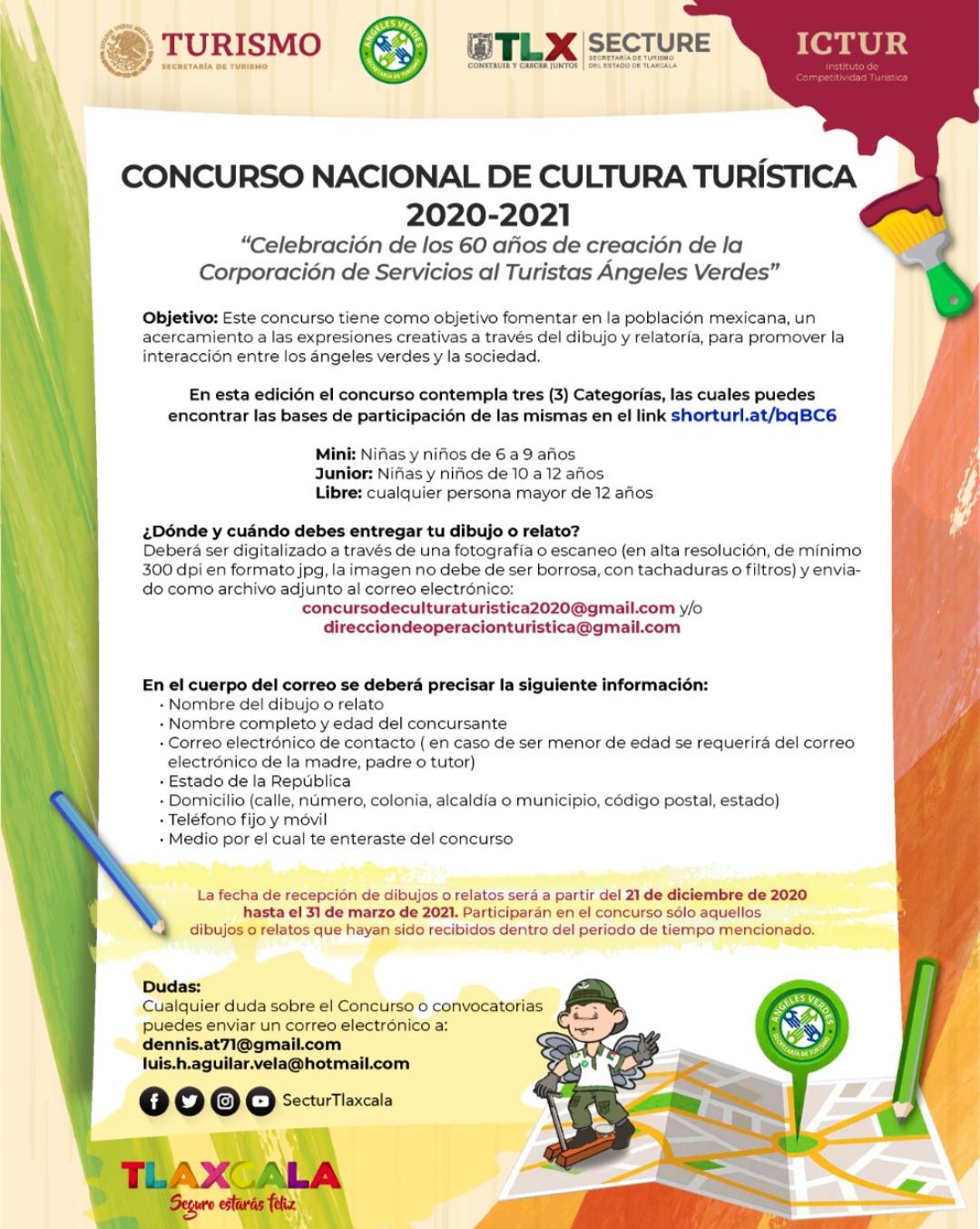Invita Secture a participar en el concurso nacional de cultura turística.