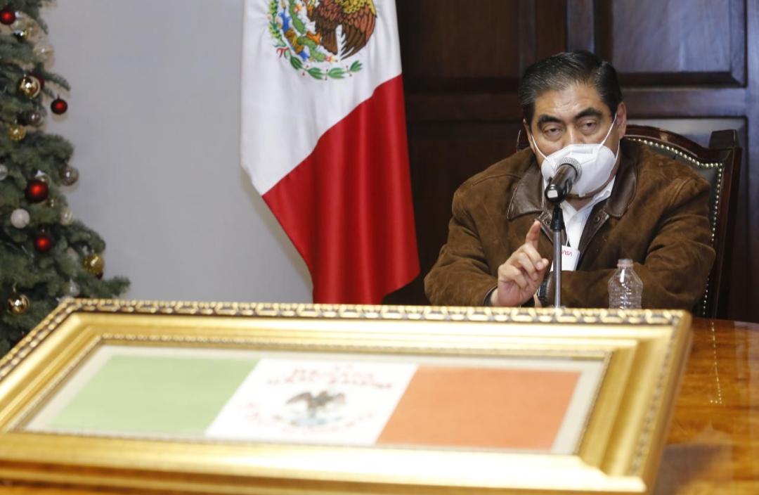 Rebrote de contagios covid-19 en Puebla, por festejos de Navidad y Año Nuevo: Barbosa