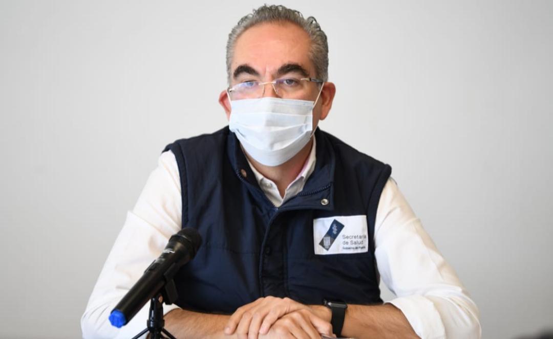 Video desde Puebla: En el estado hay mil 397 hospitalizados por coronavirus y el General de Cholula está al 92%, advirtió el secretario de Salud