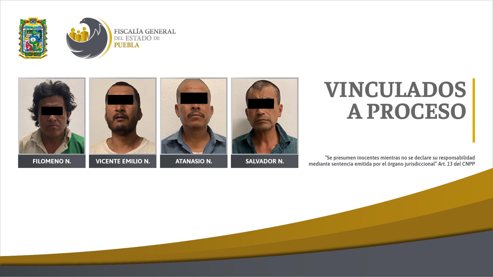 FGE logró vinculación a proceso de cuatro detenidos en cateo en Chiautla