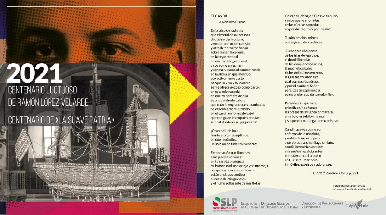 2021 centenario luctuoso de Ramón López Velarde